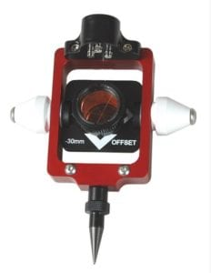 67. Red European Style Compact Portable Prism Pole System Offset 0 30 mm