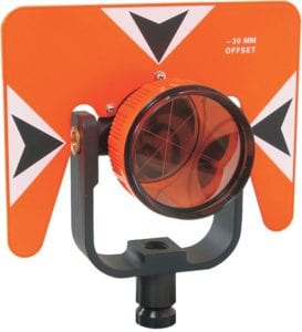 78. 62 mm Standard Prism Assembly with 5.5 x 7 inch Target Flo Orange with Black